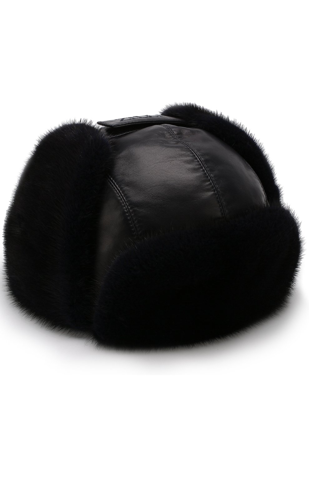 Мужская меховая шапка-ушанка ZILLI темно-синего цвета, арт. HZ0RS0-01005/00K0 | Фото 1