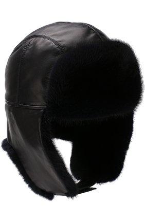 Мужская меховая шапка-ушанка ZILLI темно-синего цвета, арт. HZ0RS0-01005/00K0 | Фото 3