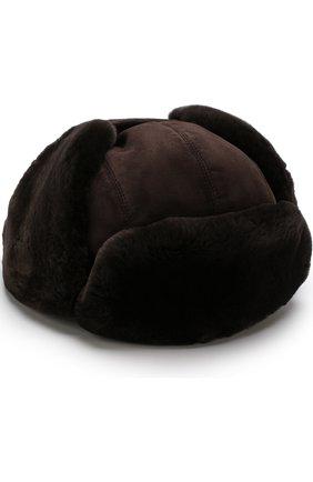 Мужская меховая шапка-ушанка ZILLI темно-коричневого цвета, арт. HZ0RS0-01003/00M0 | Фото 1