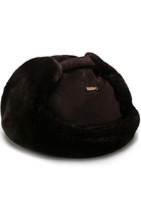 Мужская меховая шапка-ушанка ZILLI темно-коричневого цвета, арт. HZ0RS0-01003/00M0 | Фото 2