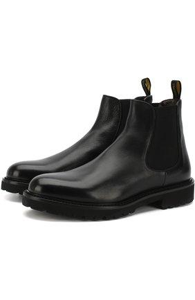 Однотонные кожаные челси Doucal's черные | Фото №1