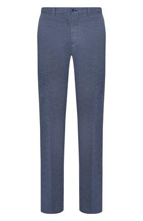 Однотонные брюки из смеси шерсти и шелка   Фото №1