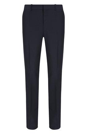 Однотонные брюки из смеси шерсти и мохера | Фото №1