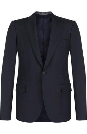 Однобортный пиджак из смеси шерсти и мохера   Фото №1