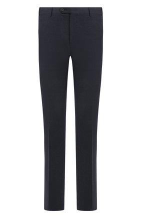 Мужские шерстяные брюки прямого кроя CORNELIANI синего цвета, арт. 825264-8817504/02 | Фото 1
