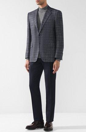 Мужские шерстяные брюки прямого кроя CORNELIANI синего цвета, арт. 825264-8817504/02 | Фото 2