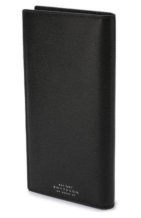 Кожаный футляр для кредитных карт Smythson черного цвета | Фото №1
