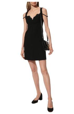 Женские замшевые туфли lauren CHLOÉ черного цвета, арт. CHC16S23001 | Фото 2