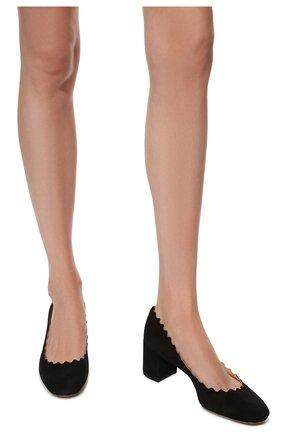 Замшевые туфли Lauren с фигурным вырезом | Фото №3