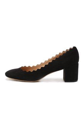 Замшевые туфли Lauren с фигурным вырезом | Фото №4
