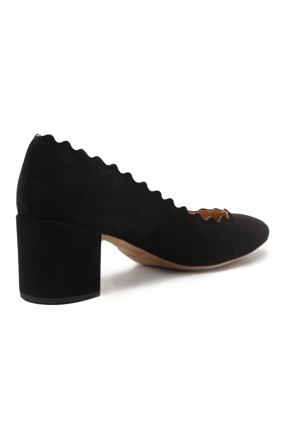 Замшевые туфли Lauren с фигурным вырезом | Фото №5
