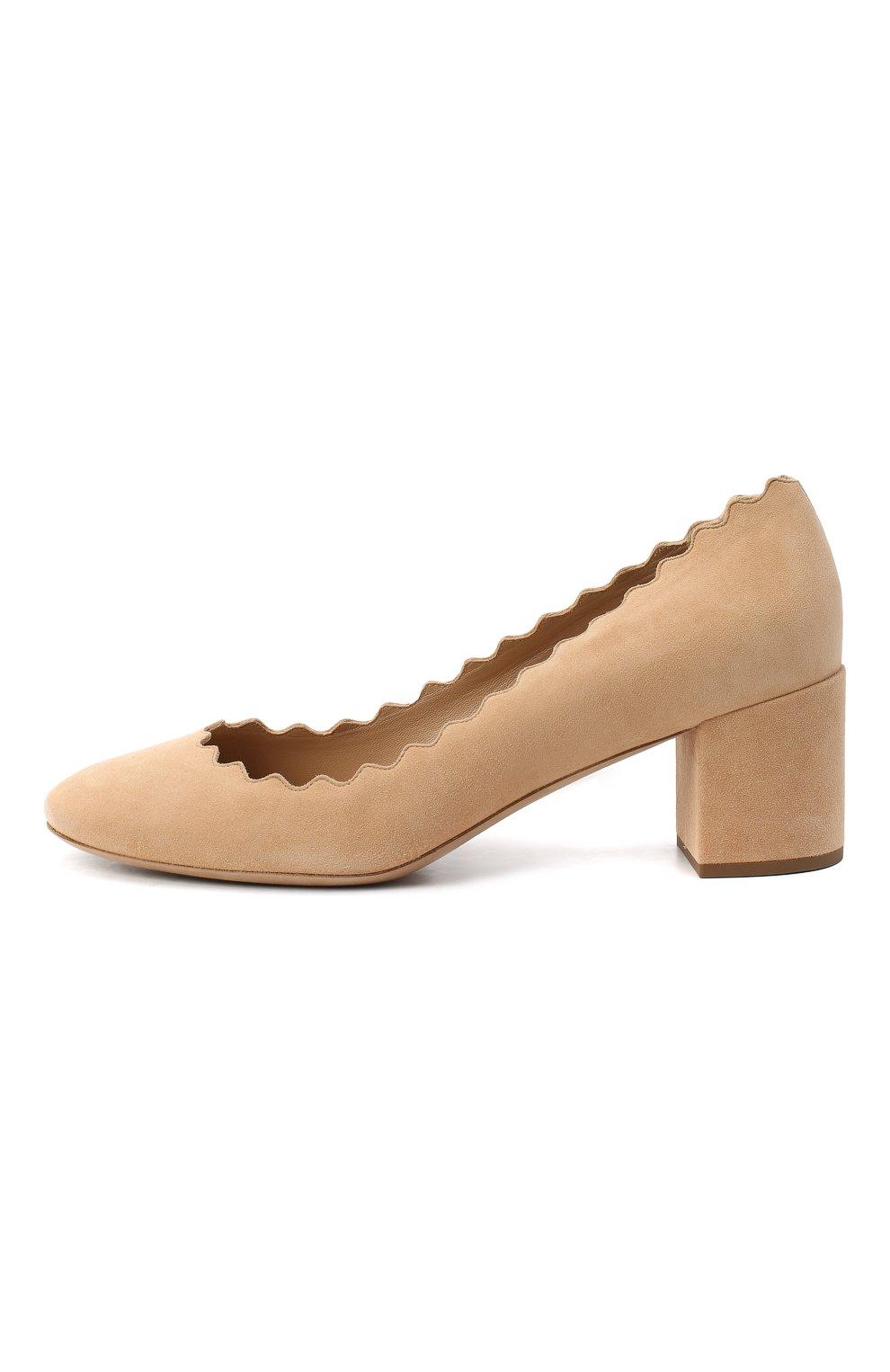 Замшевые туфли Lauren с фигурным вырезом   Фото №3