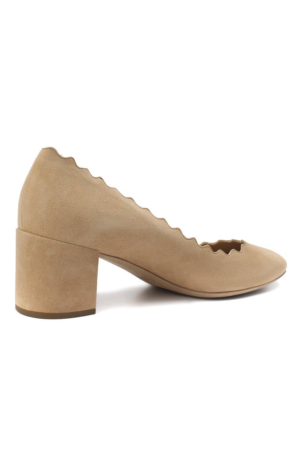 Замшевые туфли Lauren с фигурным вырезом   Фото №4