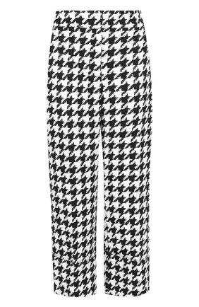 Укороченные брюки с отворотами Oscar de la Renta черно-белые | Фото №1