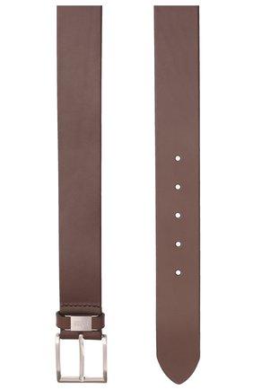 Мужской кожаный ремень BOSS темно-коричневого цвета, арт. 50224631 | Фото 3
