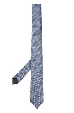 Шелковый галстук с узором HUGO сиреневого цвета   Фото №1