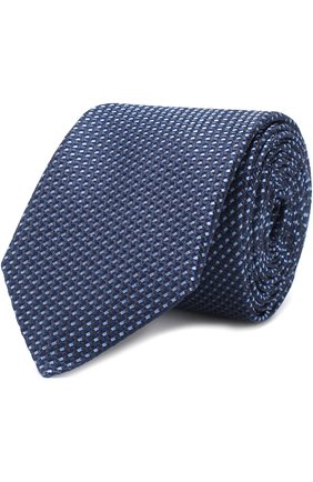 Шелковый галстук с узором HUGO розового цвета   Фото №1