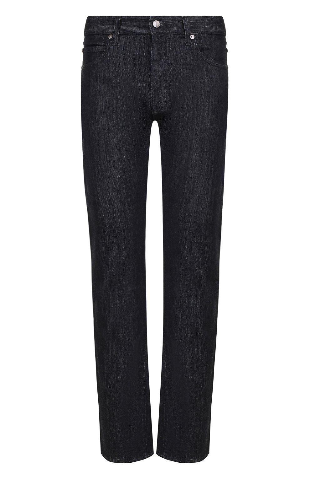 Мужские джинсы прямого кроя GIORGIO ARMANI синего цвета, арт. 6ZSJ02/SD30Z   Фото 1