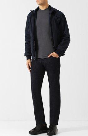 Мужские джинсы прямого кроя GIORGIO ARMANI синего цвета, арт. 6ZSJ02/SD30Z   Фото 2