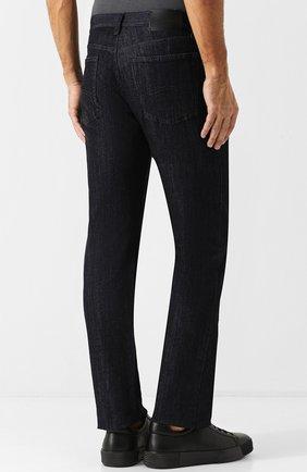 Мужские джинсы прямого кроя GIORGIO ARMANI синего цвета, арт. 6ZSJ02/SD30Z   Фото 4