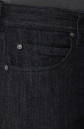 Мужские джинсы прямого кроя GIORGIO ARMANI синего цвета, арт. 6ZSJ02/SD30Z   Фото 5