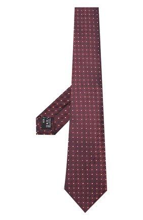 Мужской шелковый галстук с узором GIORGIO ARMANI бордового цвета, арт. 360054/8A914 | Фото 2