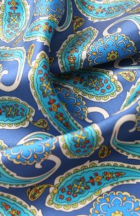 Шелковый платок с узором Eton бордовый | Фото №1