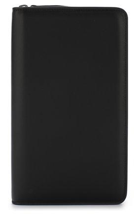 Мужская кожаный футляр для документов на молнии BRIONI черного цвета, арт. 0HQL0L/07710 | Фото 1