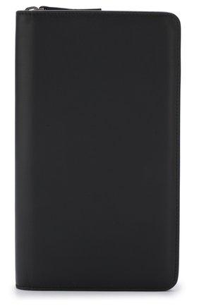 Мужская кожаный футляр для документов на молнии BRIONI темно-синего цвета, арт. 0HQL0L/07710 | Фото 1