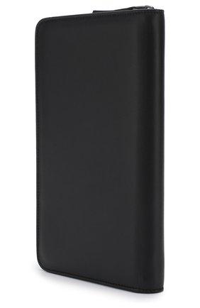 Мужская кожаный футляр для документов на молнии BRIONI темно-синего цвета, арт. 0HQL0L/07710 | Фото 2
