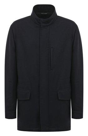 Кашемировая куртка на молнии с воротником-стойкой | Фото №1