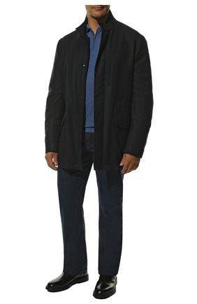 Кашемировая куртка на молнии с воротником-стойкой | Фото №2
