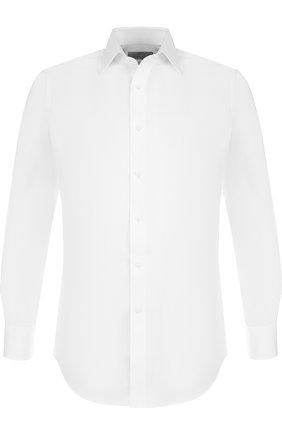 Мужская хлопковая сорочка с воротником кент CANALI белого цвета, арт. N705/GD00392/CS/LF/GD00392 | Фото 1