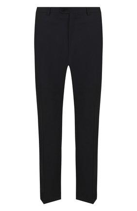 Мужской шерстяные брюки прямого кроя BRIONI черного цвета, арт. RPL23Q/PZA00/M0ENA | Фото 1