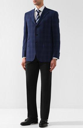 Мужской шерстяные брюки прямого кроя BRIONI черного цвета, арт. RPL23Q/PZA00/M0ENA | Фото 2