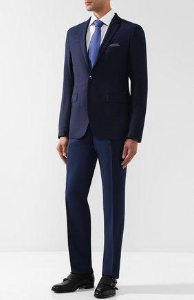 Шерстяные брюки карго Sand синие | Фото №1
