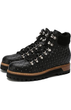 Женские кожаные ботинки LE SILLA черного цвета, арт. 7512M040M1MMCHI | Фото 1