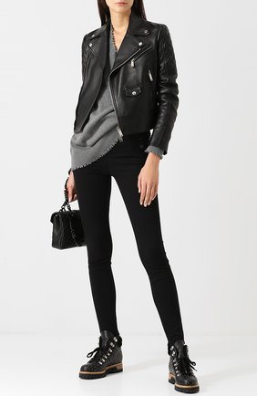 Женские кожаные ботинки LE SILLA черного цвета, арт. 7512M040M1MMCHI | Фото 2