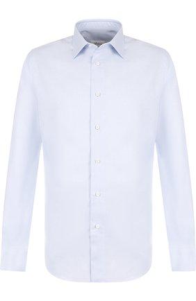 Мужская хлопковая сорочка с воротником кент BRIONI голубого цвета, арт. RCLU2U/PZ007 | Фото 1