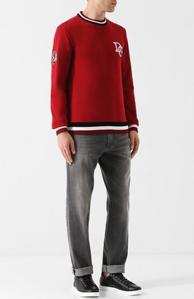 Мужские кожаные кеды на шнуровке GIANVITO ROSSI черного цвета, арт. S20266.M1WHT.CLNNBIA | Фото 2