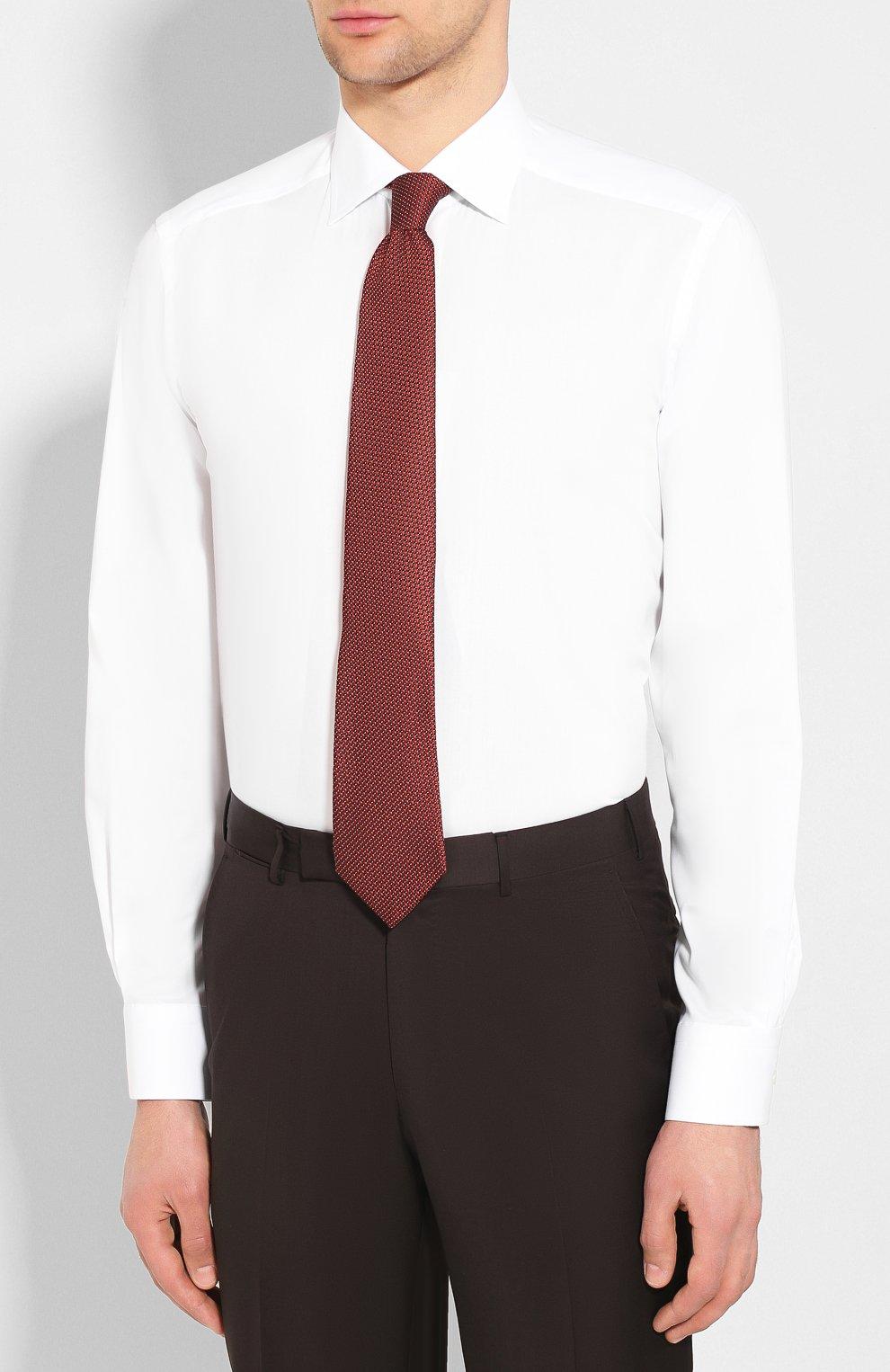 Мужская хлопковая сорочка с воротником кент ETON белого цвета, арт. 3548 79311 | Фото 4