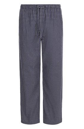 Хлопковые домашние брюки свободного кроя   Фото №1