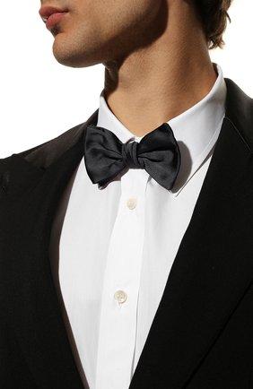 Мужской шелковый галстук-бабочка GIORGIO ARMANI синего цвета, арт. 360031/8P998 | Фото 2
