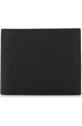 Мужской кожаное портмоне с отделениями для кредитных карт GIORGIO ARMANI черного цвета, арт. Y2R214/YEM4J   Фото 1