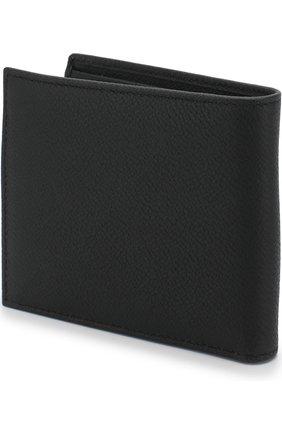 Мужской кожаное портмоне с отделениями для кредитных карт GIORGIO ARMANI черного цвета, арт. Y2R214/YEM4J   Фото 2