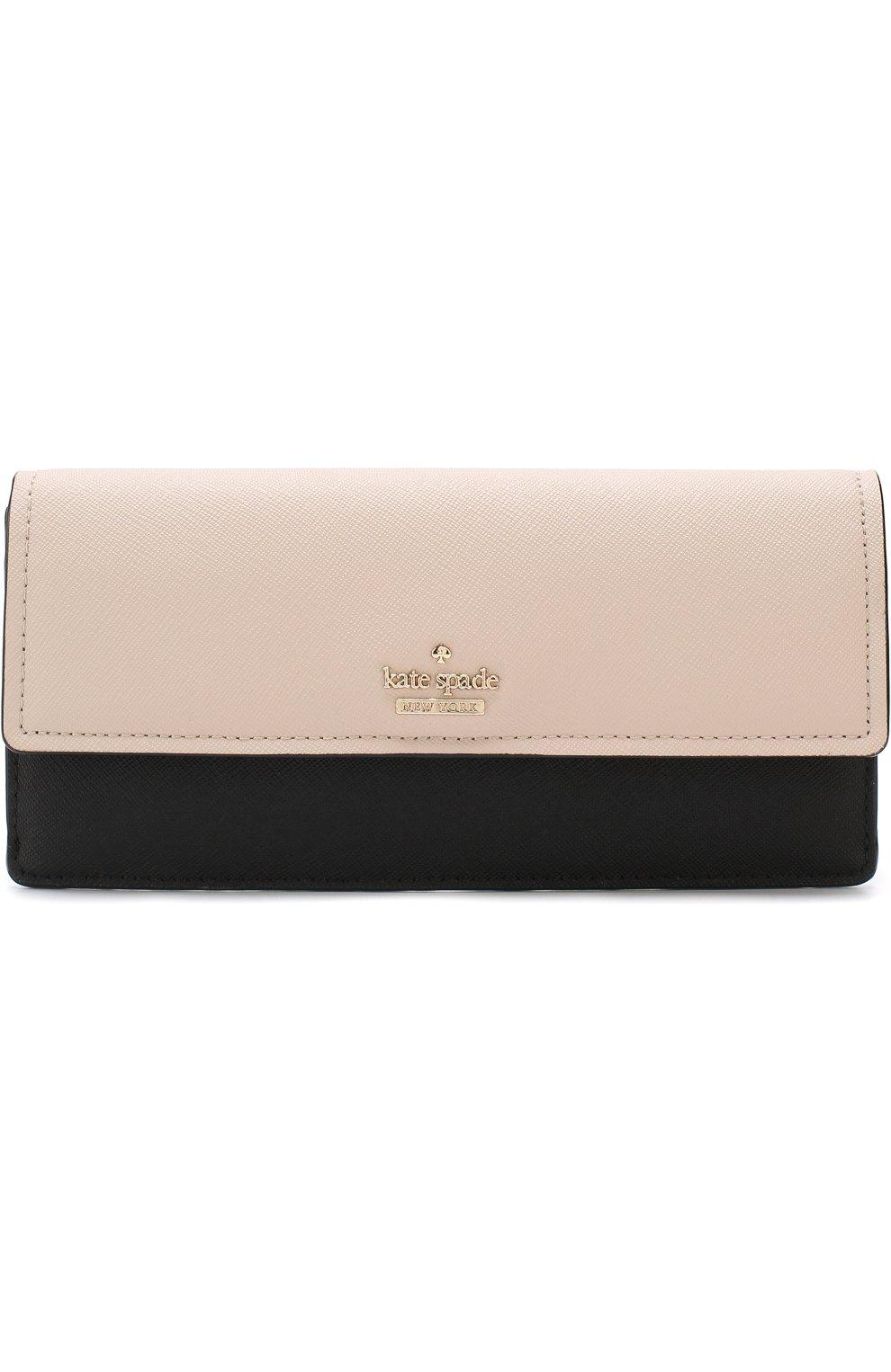 Кожаный кошелек с клапаном Kate Spade New York разноцветного цвета   Фото №1