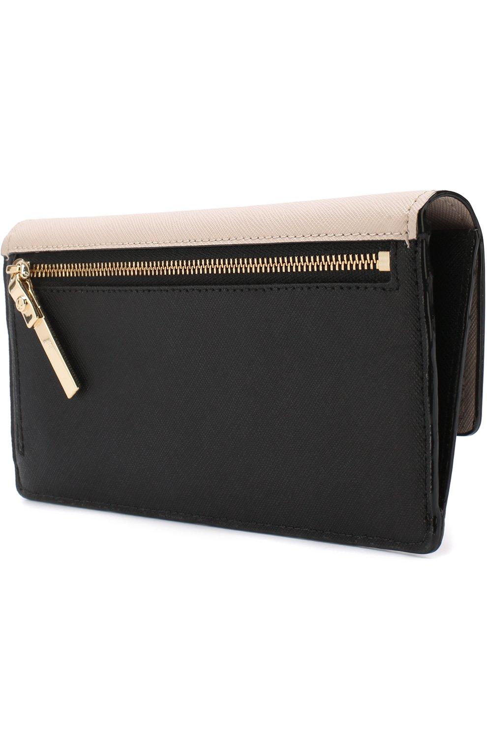 Кожаный кошелек с клапаном Kate Spade New York разноцветного цвета   Фото №2