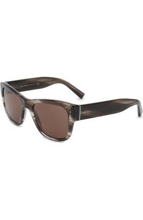Мужские солнцезащитные очки DOLCE & GABBANA коричневого цвета, арт. 4338-318773 | Фото 1