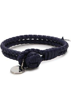 Кожаный браслет с плетением intrecciato | Фото №1