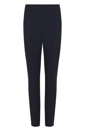 Однотонные хлопковые брюки на молнии Windsor темно-синие | Фото №1